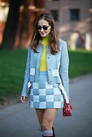 Daria Shapovalova at Milan Fashion Week (Photo by Hunter Abrams/Guest of a Guest)