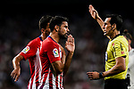 Juan Martínez Munuera FIFA Referee (R) talks to Diego Costa of Atletico de Madrid (L) during their La Liga  2018-19 match between Real Madrid CF and Atletico de Madrid at Santiago Bernabeu on September 29 2018 in Madrid, Spain. Photo by Diego Souto / Power Sport Images