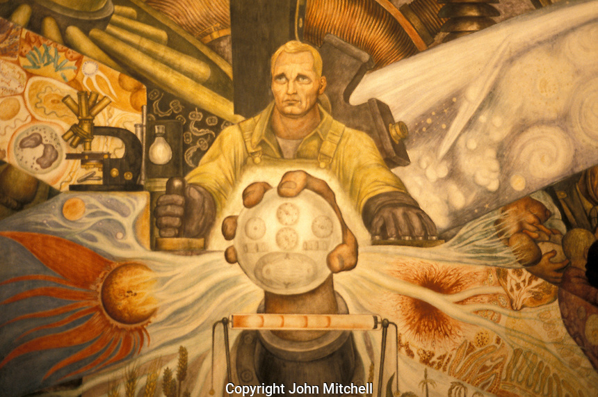 Stock photo of diego rivera murals mexico city john for Diego rivera lenin mural