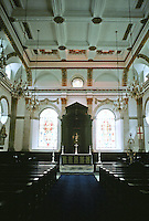 Sir Christopher Wren: St. Lawrence Jewry 1671. Interior detail of nave and altar.