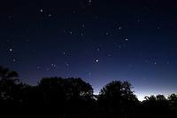 Nightfall in Central Texas.