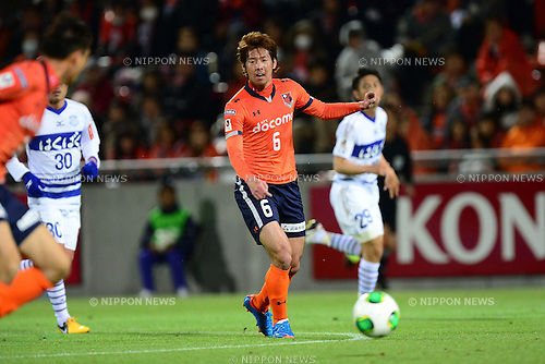Takuya Aoki (Ardija),.APRIL 10, 2013 - Football / Soccer :.2013 J.League Yamazaki Nabisco Cup Group A match between Omiya Ardija 1-3 Ventforet Kofu at NACK5 Stadium Omiya in Saitama, Japan. (Photo by AFLO)