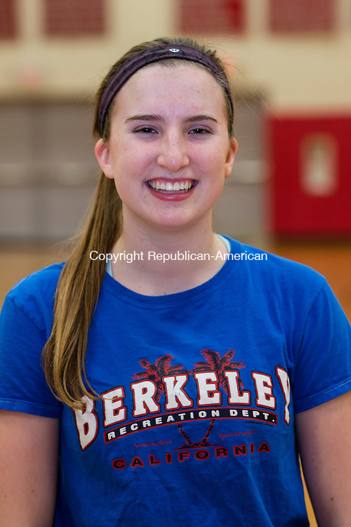 THOMASTON, CT- 30 November 2015-113015EC21-   Pomperaug's Leah Rubinstein. Monday was the first day of practice for the Panthers. Erin Covey Republican-American