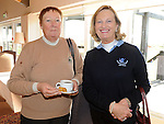 Elizabeth Murphy and Veronica Brannigan pictured at the Captain's Drive in at Seapoint golf club. Photo: Colin Bell/pressphotos.ie