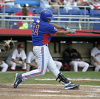 July 31, 2004:  Ofilio Castro of the Vermont Expos during a game at Russell Diethrick Park in Jamestown, NY.  Vermont is the Short Season Single-A NY-Penn League affiliate of the Montreal Expos (Washington Nationals).  Photo By Mike Janes/Four Seam Images