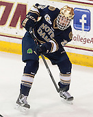 Kevin Lind (ND - 25) - The visiting University of Notre Dame Fighting Irish defeated the Boston College Eagles 7-2 on Friday, March 14, 2014, in the first game of their Hockey East quarterfinals matchup at Kelley Rink in Conte Forum in Chestnut Hill, Massachusetts.