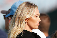 Paulina Gretzky the fianc&eacute; of Dustin Johnson (USA) watches on the 17th hole during the 118th U.S. Open Championship at Shinnecock Hills Golf Club in Southampton, NY, USA. 17th June 2018.<br /> Picture: Golffile | Brian Spurlock<br /> <br /> <br /> All photo usage must carry mandatory copyright credit (&copy; Golffile | Brian Spurlock)