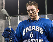 Garrett Gallagher (UMB - 6) - The UMass Boston Beacons defeated the Babson College Beavers 5-1 on Thursday, January 12, 2017, at Fenway Park in Boston, Massachusetts.