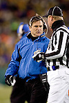 Detroit Lions head coach Steve Mariucci during an NFL football game against the Green Bay Packers at Lambeau Field on December 12, 2004 in Green Bay, Wisconsin. The Packers defeated the Lions 16-13. (Photo by David Stluka)