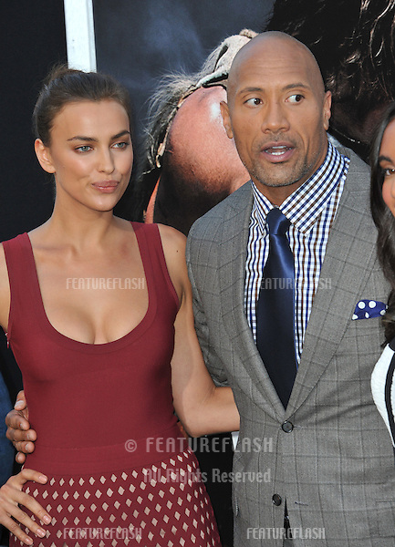 Dwayne Johnson &amp; Irina Shayk at the premiere of their movie  &quot;Hercules&quot; at the TCL Chinese Theatre, Hollywood.<br /> July 23, 2014  Los Angeles, CA<br /> Picture: Paul Smith / Featureflash