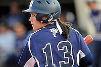 11 February 2012:  FIU's Alex Casals (13) bats as the University of Massachusetts Minutewomen defeated the FIU Golden Panthers, 3-1, as part of the COMBAT Classic Tournament at the FIU Softball Complex in Miami, Florida.