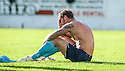 Fraserburgh keeper Scott Cowe is distraught at full time after being dumped out of the Scottish Cup.