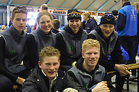 SCHAATSEN: HEERENVEEN: IJsstadion Thialf, 03-2003, VikingRace, Huub van der Wart, Sanne van der Star, Margot Boer, Bart van den Berg, Ben Jongejan, ©foto Martin de Jong