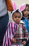 Two-year old Anaya during the Community Easter Egg Dash at Idlewild Park in Reno, Nevada on Saturday, March 31, 2018.