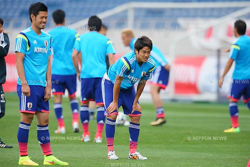 Japan team group line-up (JPN), MAY 26, 2014 - Football / Soccer : Japan National Team Official Training Session <br /> at Saitama Stadium 2002 in Saitama, Japan. (Photo by Yusuke Nakanishi/AFLO SPORT)