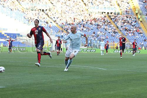 14.05.2011 Seria A Tim - stadio olimpico in Rome, Italy - Lazio versus Genoa 4-2. Rocchi takes a shot at goal
