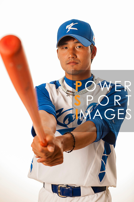 TAICHUNG, TAIWAN - FEBRUARY 27: Kim, SangSu of Team Korea poses during WBC Photo Day at the Douliu Baseball Stadium on February 27, 2013 in Douliu, Taiwan. Photo by Victor Fraile / The Power of Sport Images
