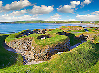 The neolithic ( circa 3000 to circa 2,500 BC) settlement of Skara Brae the best preserved groups of prehistoric houses in Western Europe. Built before the Pyramids Skara Brae gives an insight into the levels of sophistication Neolithic people reached well before the Pyramids were built. Skara Brae, Orkney Scotland.