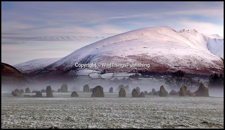 BNPS.co.uk (01202 558833)<br /> Pic: JonTaylor/WildThings/BNPS<br /> <br /> Castlerigg in the Lakes.<br /> <br /> Walk back in Time - new travel book reveals Britain's ancient places.<br /> <br /> An explorer has travelled the length and breadth of Britain to document over 400 mysterious little known ancient sites.<br /> <br /> Dave Hamilton ventured off the beaten track to uncover wild ruins which have stood for between 2,000 and 10,000 years.<br /> <br /> He avoided famous sites like Stonehenge, instead focusing on little-known lost ruins scattered across the country.<br /> <br /> His travels saw him encounter sacred tombs and caves, stone circles, Bronze Age brochs and Iron Age hillforts.
