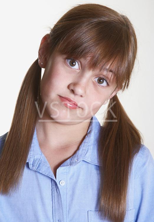 Girl making a face, portrait