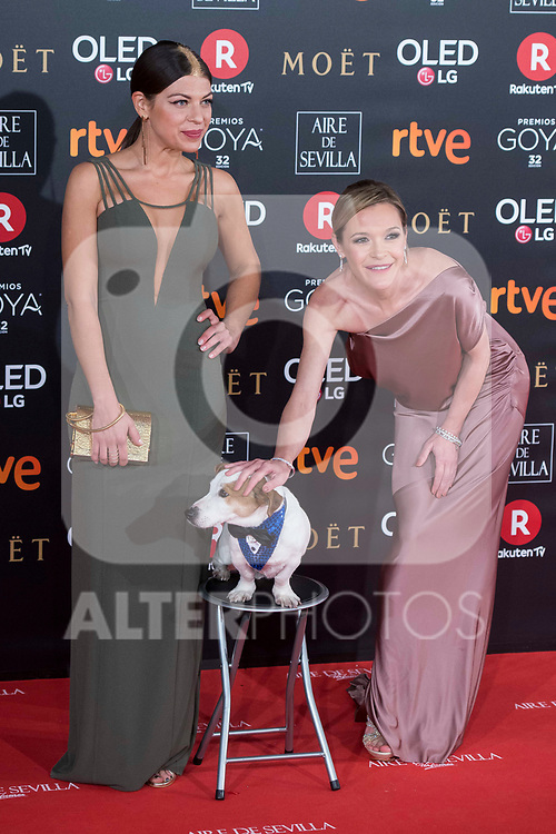 Thais Blume and Maria Esteve attends red carpet of Goya Cinema Awards 2018 at Madrid Marriott Auditorium in Madrid , Spain. February 03, 2018. (ALTERPHOTOS/Borja B.Hojas)