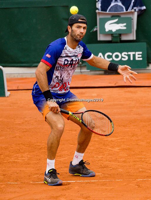 Paris, France, 3 june, 2019, Tennis, French Open, Roland Garros, Mens doubles: Jean Julien Rojer (NED)<br /> Photo: Henk Koster/tennisimages.com