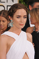 Emily Blunt at the 72nd Annual Golden Globe Awards at the Beverly Hilton Hotel, Beverly Hills.<br /> January 11, 2015  Beverly Hills, CA<br /> Picture: Paul Smith / Featureflash