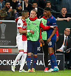 Wayne Rooney of Manchester United splits up an argument between Marcus Rashford and Hakim Ziyech of Ajax during the UEFA Europa League Final match at the Friends Arena, Stockholm. Picture date: May 24th, 2017.Picture credit should read: Matt McNulty/Sportimage