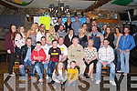 BIRTHDAY FUN: John Healy, Spa Road, Tralee (seated 5th left) having a great time celebrating his 40th birthday with family and friends at the Greyhound bar, Tralee on Friday.