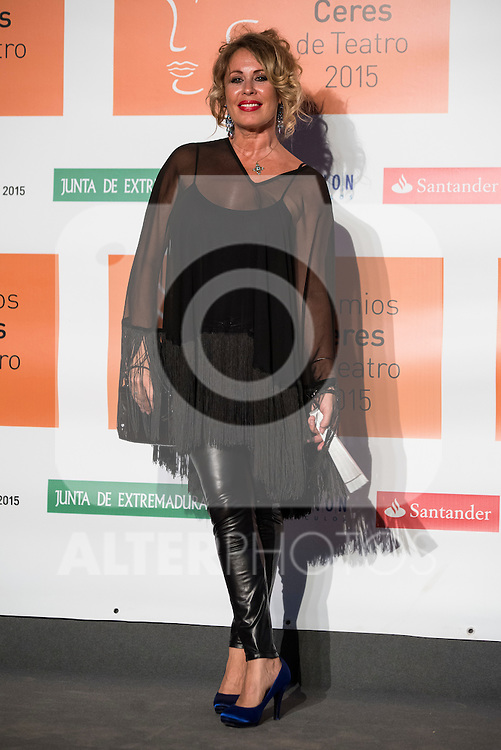 Miriam Diaz-Aroca poses for the photographers during 2015 Theater Ceres Awards photocall at Merida, Spain, August 27, 2015. <br /> (ALTERPHOTOS/BorjaB.Hojas)
