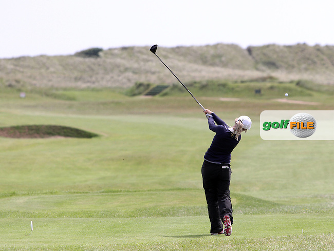 Lucy Simpson (Massereene) on the 2nd in the Quarter Final of the 2012 Irish Womens Close Championship at Co.Louth Golf Club in Baltray...(Photo Jenny Matthews/www.golffile.ie)