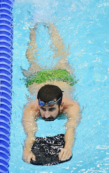 LONDON, ENGLAND – 08/24/2012: Benoit Huot of the Canadian Swim Team during a training session at the London 2012 Paralympic Games at The Aquatic Centre. (Photo by Matthew Murnaghan/Canadian Paralympic Committee)