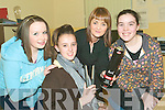 Hair care: Eimar Healy, Clodagh Leahy, Margaret Foley (Urban Angels Hair Salon) and Alannah Shine attending the Girl's Night In at the Listowel KDYS on Thursday.