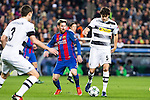 VfL Borussia Monchengladbach's Andreas Christensen Tobias Strobl, FC Barcelona's Leo Messi  during Champions League match between Futbol Club Barcelona and VfL Borussia Mönchengladbach  at Camp Nou Stadium in Barcelona , Spain. December 06, 2016. (ALTERPHOTOS/Rodrigo Jimenez)