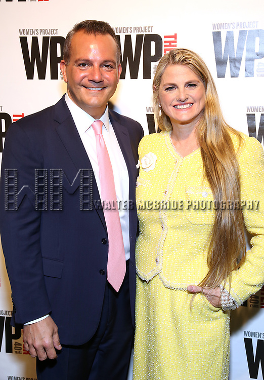 Stan Ponte and Bonnie Comley  attends the WP Theater's 40th Anniversary Gala -  Women of Achievement Awards at the Edison Hotel on April 15, 2019  in New York City.