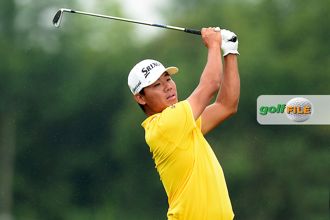 Ashun Wu of China during Round 4 of the Lyoness Open, Diamond Country Club, Atzenbrugg, Austria. 12/06/2016<br /> Picture: Richard Martin-Roberts / Golffile<br /> <br /> All photos usage must carry mandatory copyright credit (&copy; Golffile | Richard Martin- Roberts)