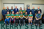 Kerry LGFA Ladies Football launched their football academy in John Mitchels on Thursday evening.<br /> Seated l to r: R&oacute;ise O&rsquo;Donnell (Austin Stacks), Sarah Lynch (Listowel Emmets), Clodagh Murray (Austin Stacks), Grace O&rsquo;Mahoney (Austin Stacks) , Bronagh Kelliher (Austin Stacks), Filicity O&rsquo;Shea (Ballymac) and Paul Murphy.<br /> Standing l to r: Christena Curtin, Frank McLoughlin, Daniel Fleming, Sean Walsh (Kerry LGFA Chairman), Lauren Smellen (John Mitchels), Shona Griffin (Ballymac), Rory Killgallan, Maurice Dunsworth and Gene O&rsquo;Donnell.