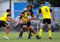 Action from the rugby match between Hurricanes development and Blues Development at Evan's Bay Park in Wellington, New Zealand on Wednesday, 17 March 2018. Photo: Dave Lintott / lintottphoto.co.nz