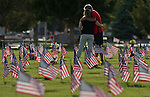 Memorial Day flags 2014 - Lone Mountain Cemetery