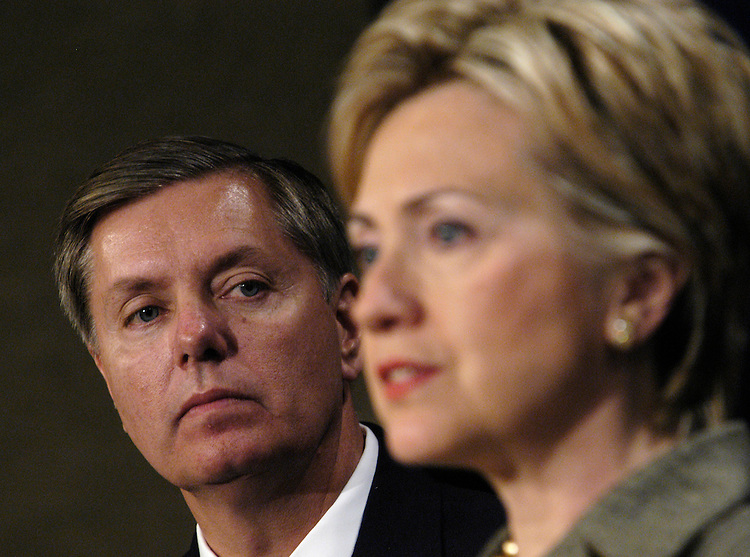 Sen. Lindsay Graham, R-SC, and Sen. Hillary Clinton, D-NY, announced a new plan for additional benefits for National Guard and reserve members under the Tricare system