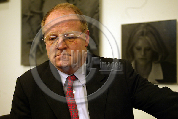 Belgium--Brussels---Dorint Hotel      30.01.2003.Ernst WELTEKE, President of the Deutsche Bundesbank (German Federal Bank);      .Portrait     . PHOTO: EUP-IMAGES.COM / ANNA-MARIA ROMANELLI