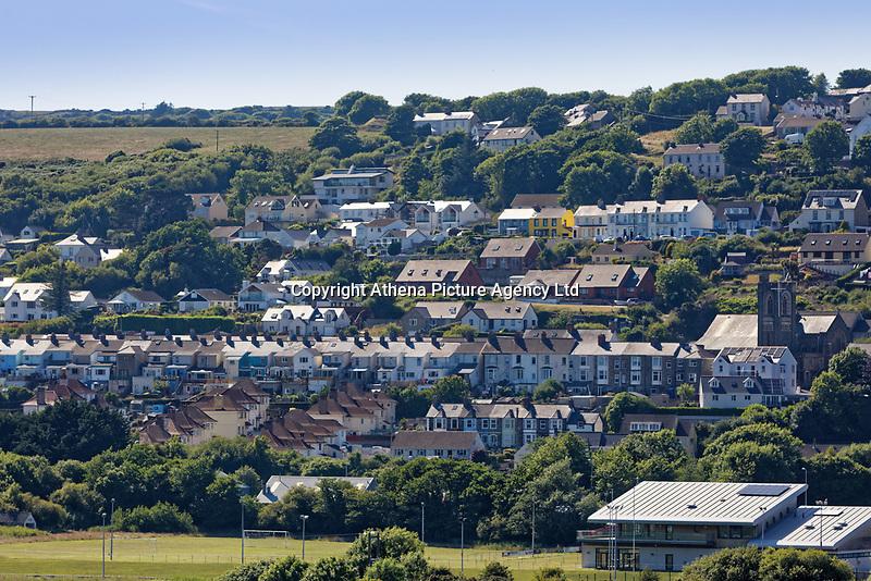 Goodwick in Fishguard, Pembrokeshire, Wales, UK