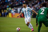 Seattle, WA - Tuesday June 14, 2016: Argentina forward Sergio Aguero (11) looks for a pass during a Copa America Centenario Group D match between Argentina (ARG) and Bolivia (BOL) at CenturyLink Field