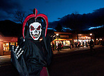 Halloween celebration in downtown Estes Park, Colorado, USA