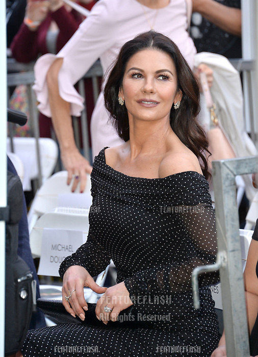 LOS ANGELES, CA. November 06, 2018: Catherine Zeta-Jones at the Hollywood Walk of Fame Star Ceremony honoring actor Michael Douglas.<br /> Pictures: Paul Smith/Featureflash