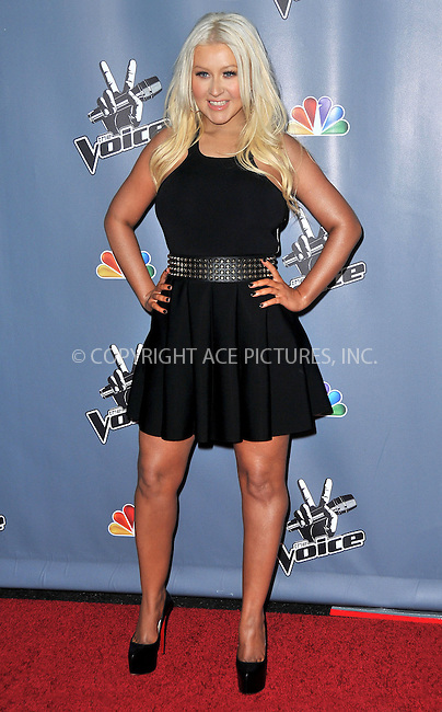 WWW.ACEPIXS.COM....US Sales Only....March 20 2013, LA....Christina Aguilera at 'The Voice' season four premiere held at the TCL Chinese Theatre in Hollywood on March 20 2013 in Los Angeles ....By Line: Famous/ACE Pictures......ACE Pictures, Inc...tel: 646 769 0430..Email: info@acepixs.com..www.acepixs.com