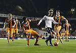 Tottenham's Christian Eriksen tussles with Hull's Curtis Davies during the Premier League match at White Hart Lane Stadium, London. Picture date December 14th, 2016 Pic David Klein/Sportimage