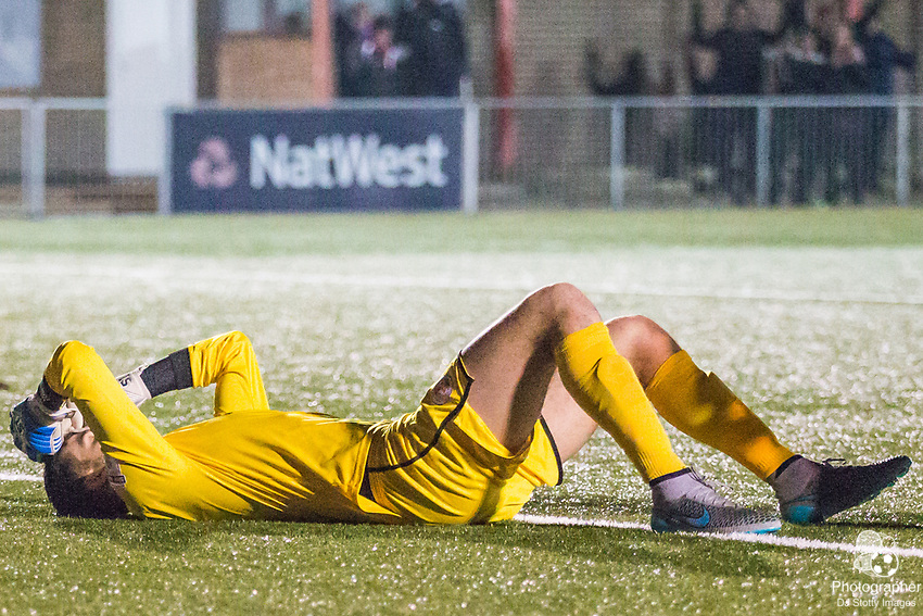 Yusef Mersin(GK) (Crawley) during Parafix Sussex Senior Cup Quarter Final between Eastbourne Borough FC & Crawley Town FC on Tuesday 09 January 2018 at Priory Lane. Photo by Jane Stokes (DJ Stotty Images)