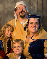 Carlson Family gathered for a portrait in their best garb.