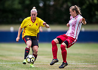 Leah Cudone of Watford Ladies during the pre season friendly match between Stevenage Ladies FC and Watford Ladies at The County Ground, Letchworth Garden City, England on 16 July 2017. Photo by Andy Rowland / PRiME Media Images.